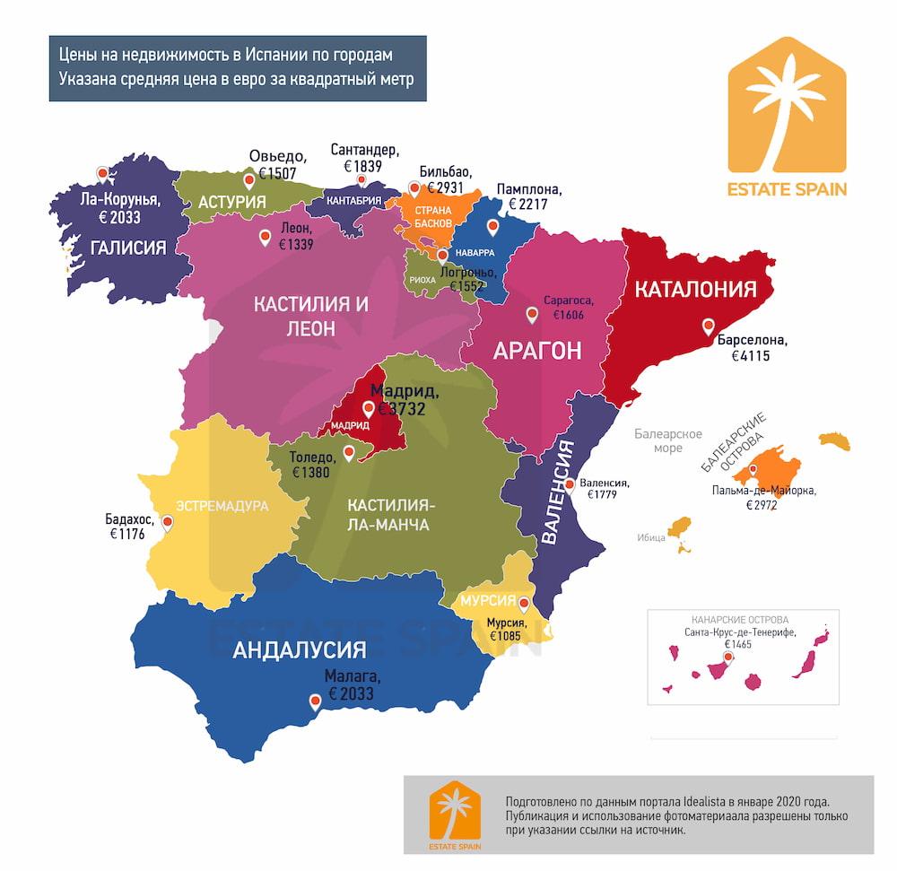 Цены на квартиры в испании купить квартиру в элит резиденс дубай марина